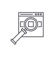 search for products on the site line icon concept vector image vector image