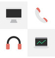set of simple devices icons elements screen vector image