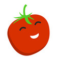 smile tomato icon flat style vector image