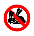 stop rabbit sex ban bunny hare intercourse red vector image vector image