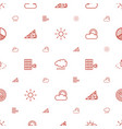 sunlight icons pattern seamless white background vector image vector image