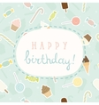 Sweet greeting Birthday card vector image vector image