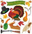 thanksgiving clipart icons vector image
