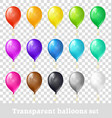 transparent balloons set vector image