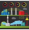 Trendy infographics set All types of power plants vector image