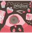 valentine s day handwritten lettering calligraphic vector image