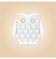 white gradient owl isolated vector image