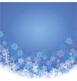 Winter blue background with fallen snowflakes vector image