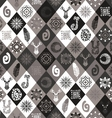 Winter seamless pattern with hand drawn elements vector image vector image