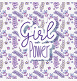 woman power pattern background vector image vector image