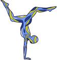 yoga silhouettes asana scorpion vector image vector image