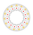 round frame with decorative elements wedding card vector image