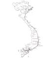 Vietnam Black White Map vector image