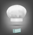 chef hat isolated on a gray background vector image