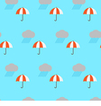 Seamless pattern rain cloud and umbrella vector image
