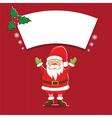 winter label with Santa Claus vector image