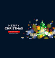 2020 new year christmas tree sparkle blur bokeh vector image