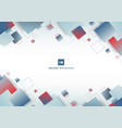 abstract blue and red gradient color square vector image vector image