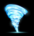 abstract glowing tornado rotating twister vector image
