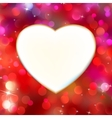 Abstract heart card in red EPS 8 vector image vector image