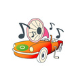 automobile-gramophone vector image