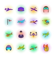 Aviation Icon Set pop-art style vector image vector image