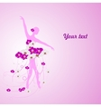 Beautiful background with tender ballerina in vector image vector image