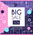 big sale 50 percent off banner template design vector image vector image