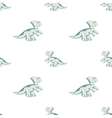 blue Dino on white background vector image vector image