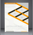 business brochure flyer design layout design vector image vector image