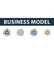 business model icon set premium symbol in vector image vector image
