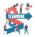 business project and teamwork concept business vector image