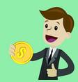 business success businessman money pop art vector image vector image