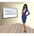 business woman with a folder in his hands a place vector image vector image