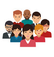 businesspeople character avatar icon vector image vector image