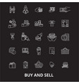 buy and sell editable line icons set on vector image vector image