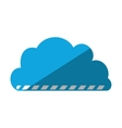 cartoon cloud load file data vector image
