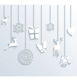 Christmas and Happy New Year winter season vector image vector image