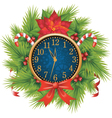 christmas clocks vector image vector image