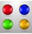 Colorful Christmas toys vector image
