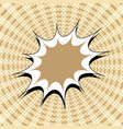 comic dynamic brown background vector image vector image