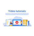 concept for online education vector image