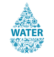 Conceptual background of pure water vector image