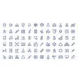 coronavirus line icons contour signs virus vector image