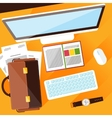 Creative office workplace vector image