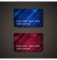 Credit Cards With Abstract Shiny Lines vector image vector image