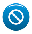 cursor stop element icon blue vector image vector image