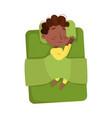cute african american little boy sleeping sweetly