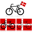 Danish bicycle vector image vector image
