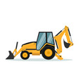 design of backhoe heavy machinery vector image vector image